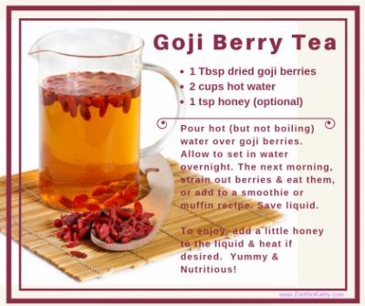 Goji Berry Tea Recipe Earth To Kathy