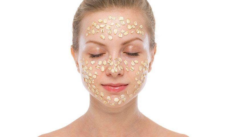honey and oats face mask