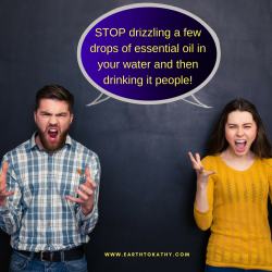 Big Cautions with the Internal Use of Essential Oil